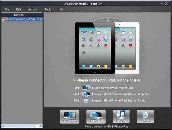 iPad 2 Transfer screen