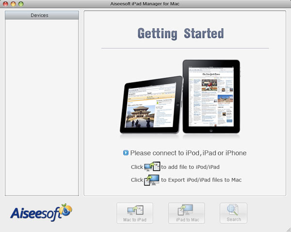 iPad Manager for Mac screen